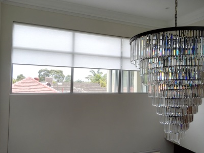 Linked Light Filtering Roller Blinds